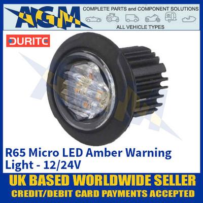 Durite 0-441-41 R65 Micro LED Amber Warning Light - 12/24V