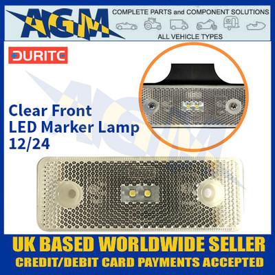 Durite 0-170-80 Clear Front LED Marker Lamp - 12/24V