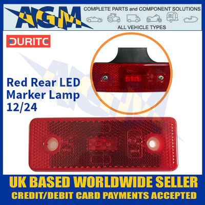 Durite 0-170-85 Red Rear LED Marker Lamp - 12/24v