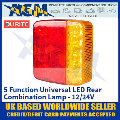 Durite 0-294-80 5 Function Universal LED Rear Combination Lamp - 12/24V