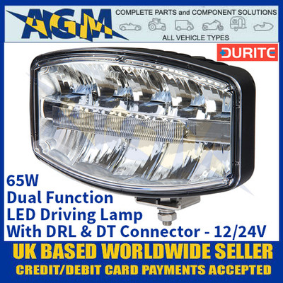 Durite 0-420-29 65W Dual Function LED Driving Lamp With DRL & DT Connector - 12/24V