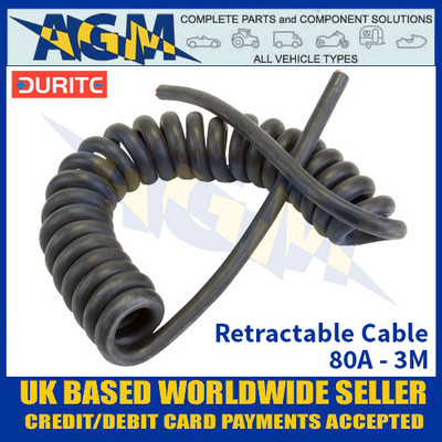Durite 0-714-03, Retractable Cable, 80A - 3M