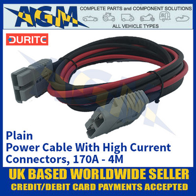 Durite 4-204-09, Plain Power Cable With High Current Connectors, 170A - 4M