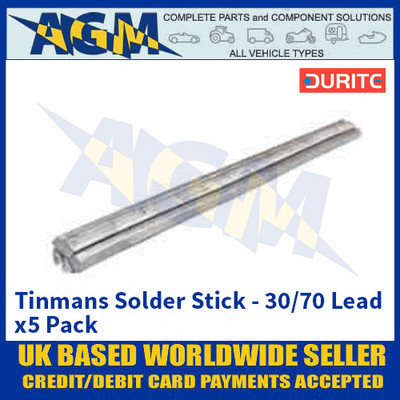 Durite 0-468-00, Tinmans Solder Stick - 30/70 Lead - x5 Pack