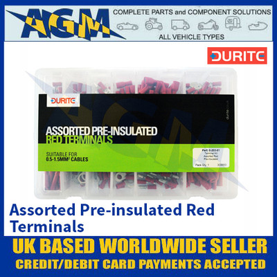 Durite 0-203-01 Assorted Pre-insulated Red Terminals
