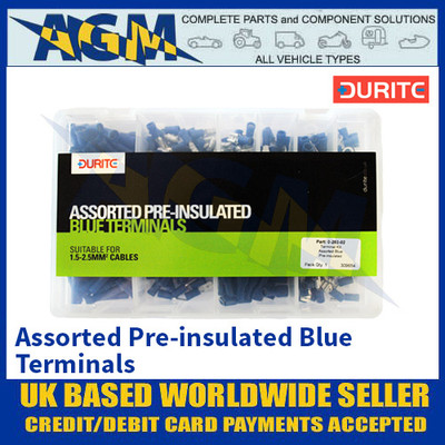 Durite 0-203-02 Assorted Pre-insulated Blue Terminals