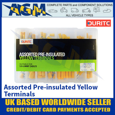 Durite 0-203-03 Assorted Pre-insulated Yellow Terminals