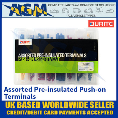 Durite 0-203-04 Assorted Pre-insulated Push-on Terminals