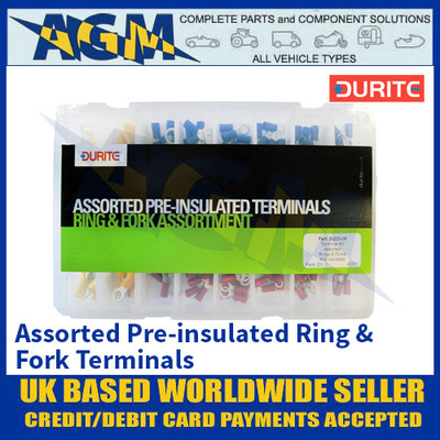Durite 0-203-05 Assorted Pre-insulated Ring & Fork Terminals