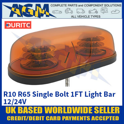 Durite 0-443-81 R10 R65 Single Bolt 1FT Light Bar - 12/24V