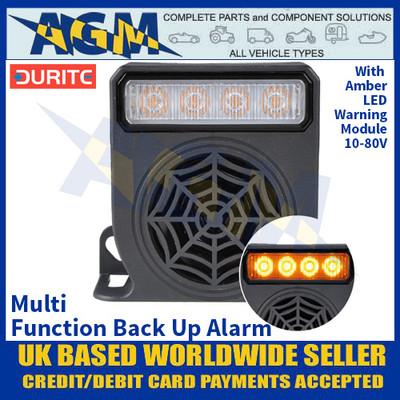 Durite 0-564-10, Multi Function Back Up Alarm With Amber LED Warning Module - 10-80V