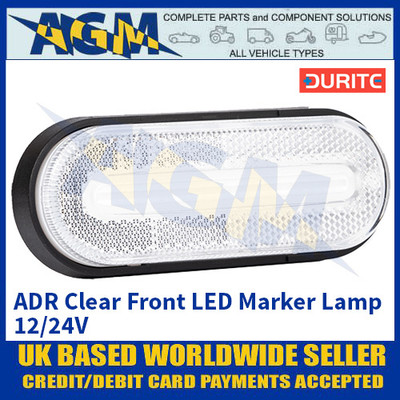 Durite 0-169-00, ADR Clear Front LED Marker Lamp 12/24V