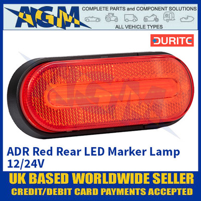 Durite 0-169-05, ADR Red Rear LED Marker Lamp 12/24V