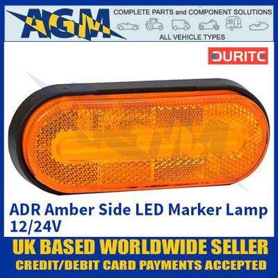 Durite 0-169-10, ADR Amber Side LED Marker Lamp 12/24V