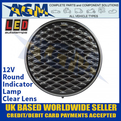 LED Autolamps 82AC Round Indicator Lamp - Clear Lens - 12V