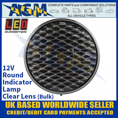 LED Autolamps 82ACB Round Indicator Lamp - Clear Lens - 12V (Bulk)