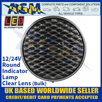 LED Autolamps 82ACMB Round Indicator Lamp - Clear Lens - 12/24V (Bulk)