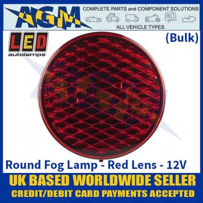 LED Autolamps 82FB Round Fog Lamp - Red Lens - 12V - (Bulk)
