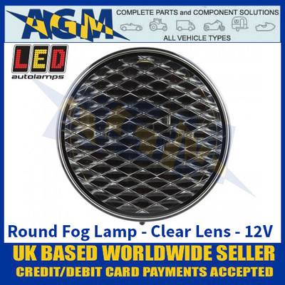 LED Autolamps 82FC Round Fog Lamp - Clear Lens - 12V