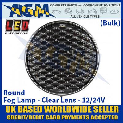 LED Autolamps 82FCMB Round Fog Lamp Clear Lens 12/24v - (Bulk)
