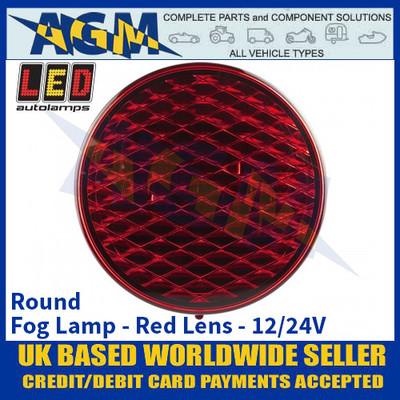 LED Autolamps 82FM Round Fog Lamp Red Lens 12/24v