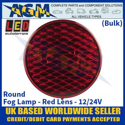 LED Autolamps 82FMB Round Fog Lamp Red Lens 12/24v - (Bulk)