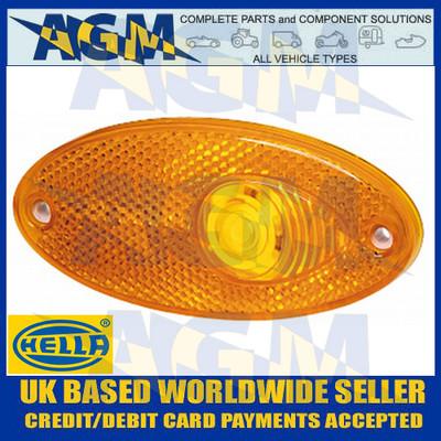 Hella Oval Amber Side Marker Light Lamp For Motorhomes And Caravans
