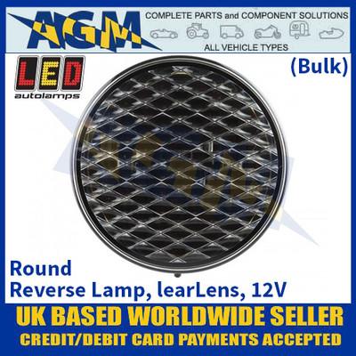 LED Autolamps 82WB Round Reverse Lamp, Clear Lens, 12v - (Bulk)