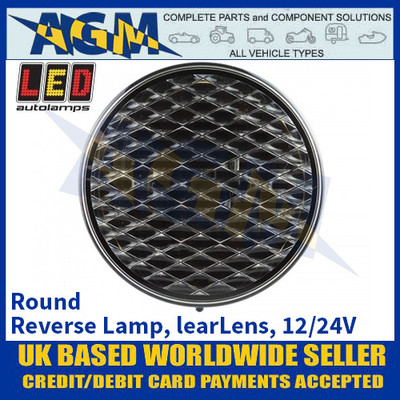 LED Autolamps 82WM Round Reverse Lamp, Clear Lens, 12/24v