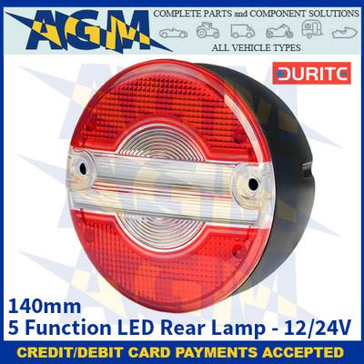 Durite 0-097-55 140mm 5 Function LED Rear Lamp - 12/24V
