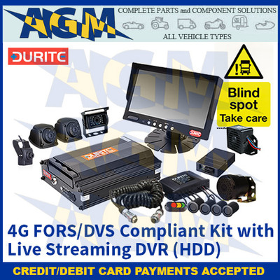 Durite 0-774-27 4G FORS/DVS Compliant Kit With Live Streaming DVR (HDD)