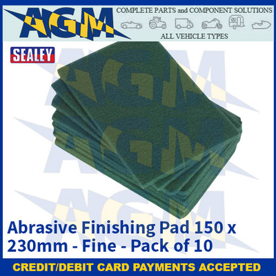 Sealey HP1523F Abrasive Finishing Pad 150 x 230mm Fine Pack of 10