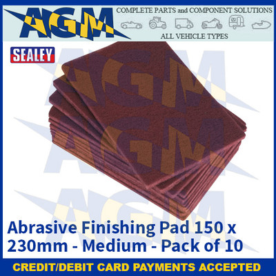 ealey HP1523M Abrasive Finishing Pad 150 x 230mm Medium Pack of 10