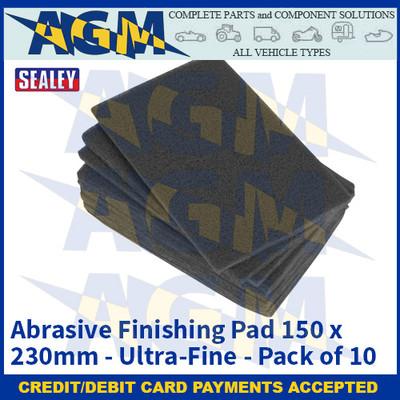 Sealey HP1523UF Abrasive Finishing Pad 150 x 230mm Ultra-Fine Pack of 10