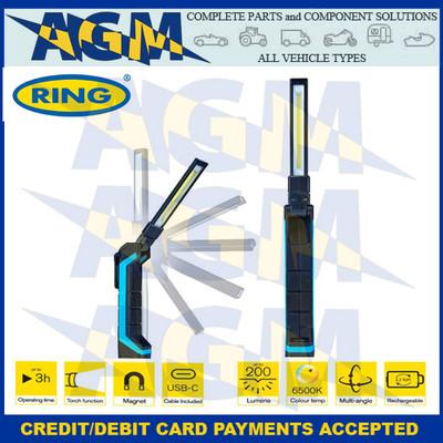 RIL86  Rechargeable Slim LED Pocket Inspection Lamp blue 200 lumens