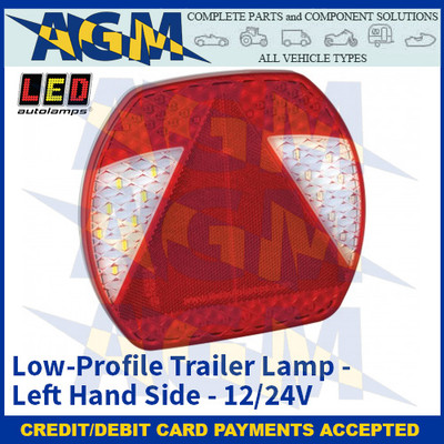 LED Autolamps EU195L Low-Profile Trailer Lamp – Left Hand Side - 12/24v