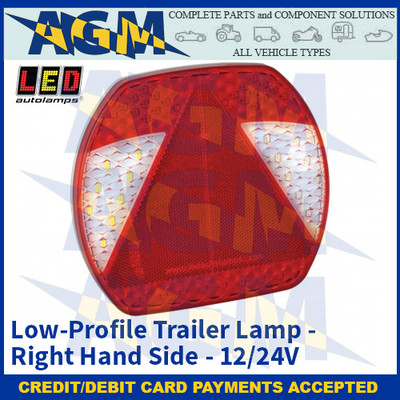 LED Autolamps EU195R Low-Profile Trailer Lamp – Right Hand Side - 12/24v