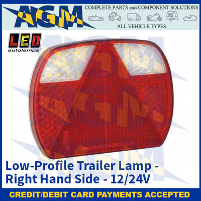 LED Autolamps EU200R Low-Profile Trailer Lamp (Right Hand Side) - 12/24v