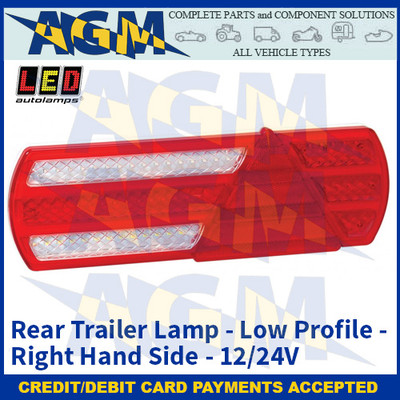 LED Autolamps EU390R Low-Profile Trailer Lamp (Right Hand Side) - 12/24v