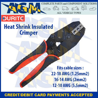 Durite 0-703-54  Ratchet Crimping Tool For Heat Shrink Wiring Terminals