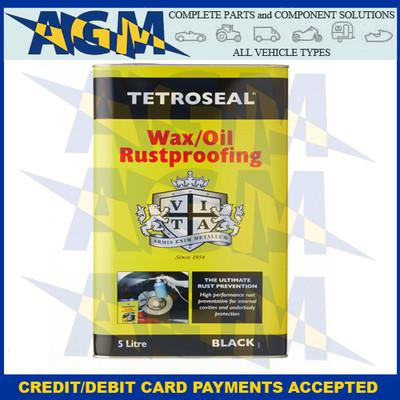 Tetroseal TWO008 Wax Oil Rustproof Black 5 Litre