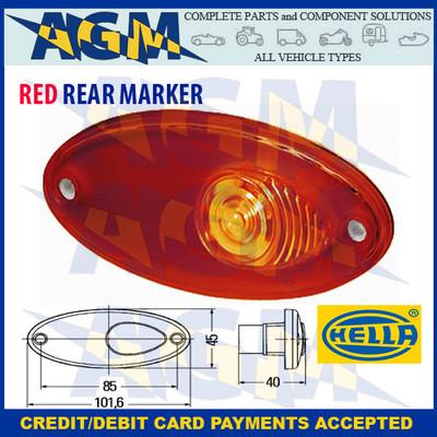 Hella 2XS 964 295-037 Oval Red Rear Marker Light Lamp  Motor-homes, Caravans