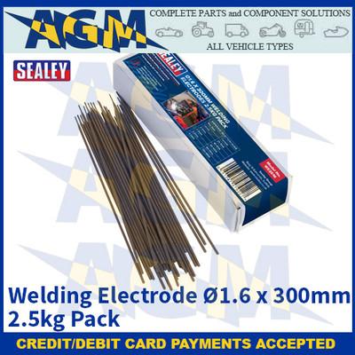 Sealey WE2516 Welding Electrode Ø1.6 x 300mm 2.5kg Pack