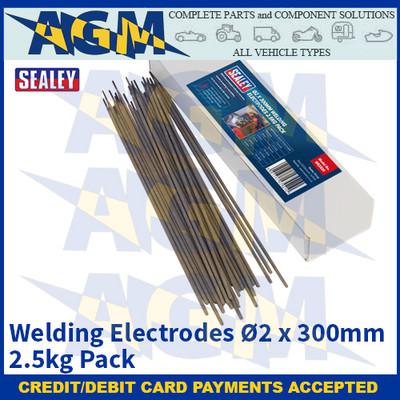 Sealey WE2520 Welding Electrode Ø2 x 300mm 2.5kg Pack