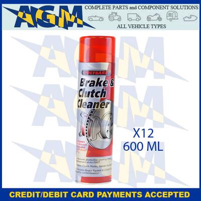 Polygard Brake And Clutch Cleaner 600ml Tin (PK 12)
