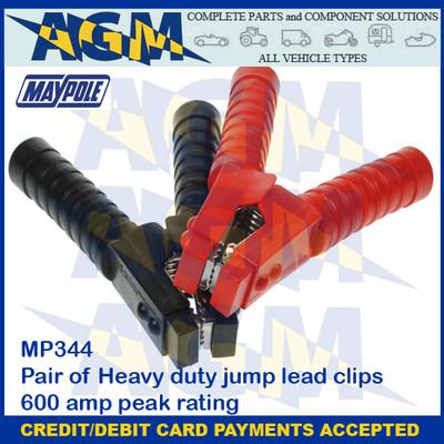 Maypole MP344  Pair of 600A Heavy Duty Jump Lead Clips