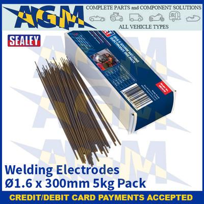 Sealey WE5016 Welding Electrodes Ø1.6 x 300mm 5kg Pack