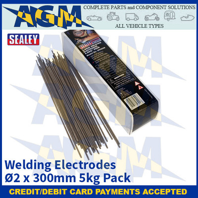Sealey WE5020 Welding Electrodes Ø2 x 300mm 5kg Pack