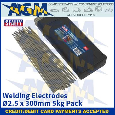 Sealey WE5025 Welding Electrodes Ø2.5 x 300mm 5kg Pack