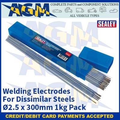 Sealey WED1025 Welding Electrodes Dissimilar Ø2.5 x 300mm 1kg Pack